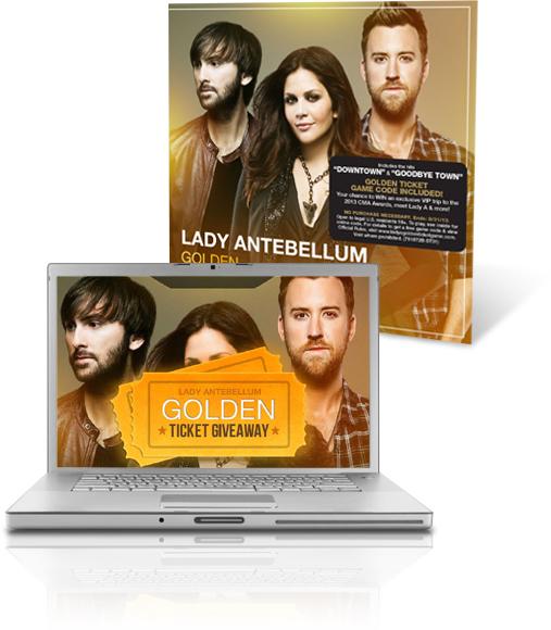 Lady Antebellum Golden Ticket: Instant Win Game